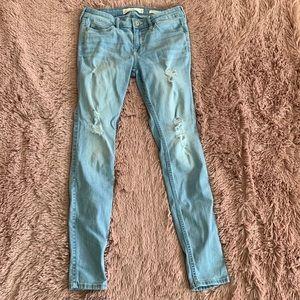 Hollister denim jeans distressed